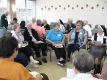 Sisters and Associates are Faith-Sharing at the Opelousas Retreat